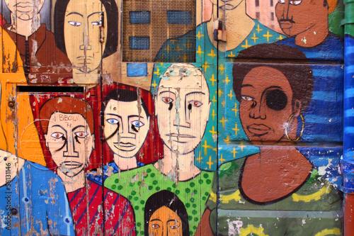 plakat Marsylia - Sztuka ulicy (Le panier)