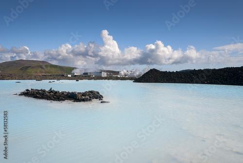 Foto op Plexiglas Arctica colori nella Laguna Blu a Reykjavik in Islanda