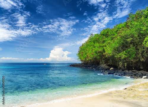 Foto op Plexiglas Indonesië Tropical beach. Padangbai, Bali, Indonesia
