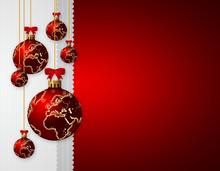 Christmas Glass Balls Over Dar...