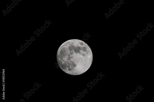 In de dag Volle maan Full White Moon