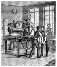 Workers - Machine : Paper Industry - 19th Century