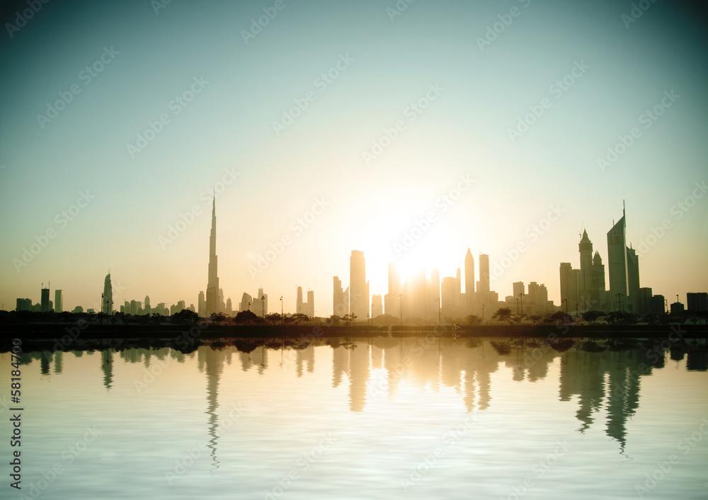Photo  Beautiful beach and sea in  Dubai