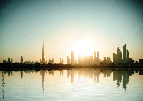 Photo  Beautiful beach and sea in  Dubai