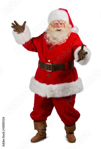 Foto-Doppelrollo - Santa Claus Presenting something (von Milles Studio)