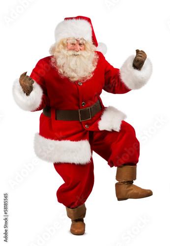 Foto-Doppelrollo - Happy Christmas Santa Claus Dancing (von Milles Studio)