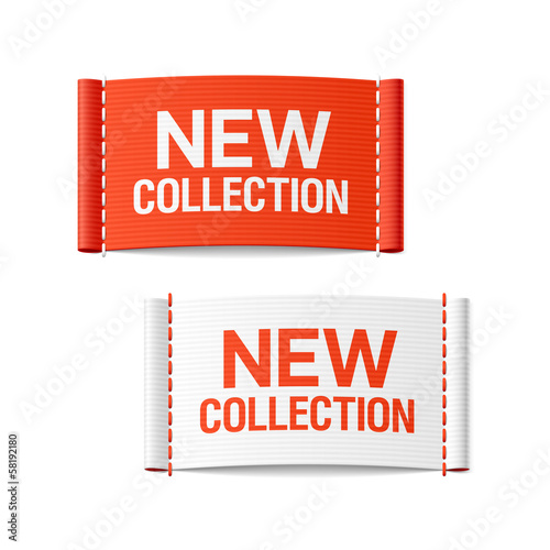 New collection clothing labels Plakat