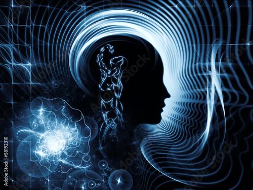 Staande foto Fractal waves Illusion of Human Mind