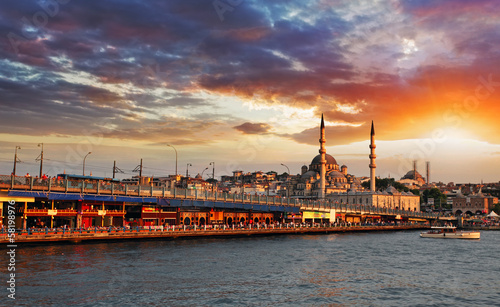 Fotografia  Istanbul at sunset, Turkey