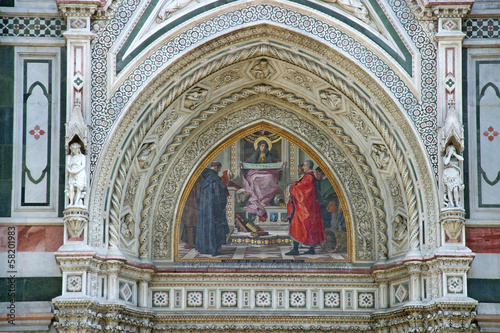 Fotografie, Obraz  Detail of Cathedral  in Florence1