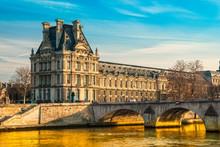 Louvre Museum And Pont Des Art...
