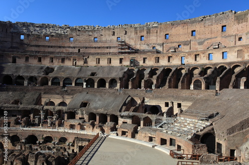 Inside in Colosseum, Rome, Italy Canvas Print