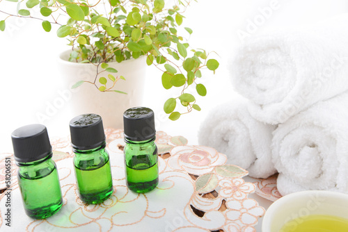 Fotografía  グリーンボトルのアロマオイル