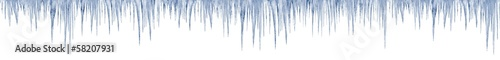 Fototapeta icicles on white background 1 meter long in print size
