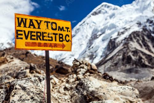 Fotografía Señal de acera Monte Everest