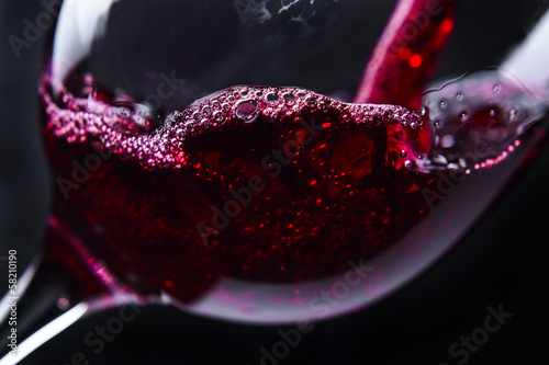 Deurstickers Alcohol red wine