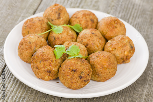 Falafel - Middle Eastern chickpea and fava beans fried balls Canvas Print