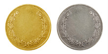 Old Blank Gold And Silver Coins