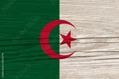 Foto op Plexiglas Algerije flag of Algeria