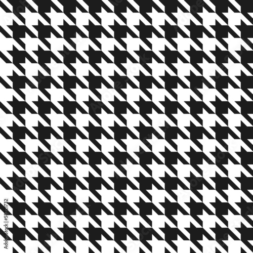 Photo  Seamless black and white houndstoothpattern.
