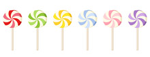 Six Colorful Lollipops. Vector...
