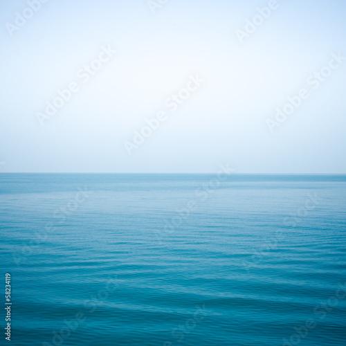 Staande foto Zee / Oceaan sea Indigo color and soft wave