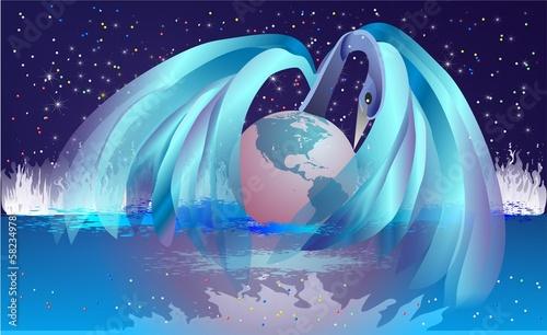 Fototapeta narodziny Ziemi, obraz