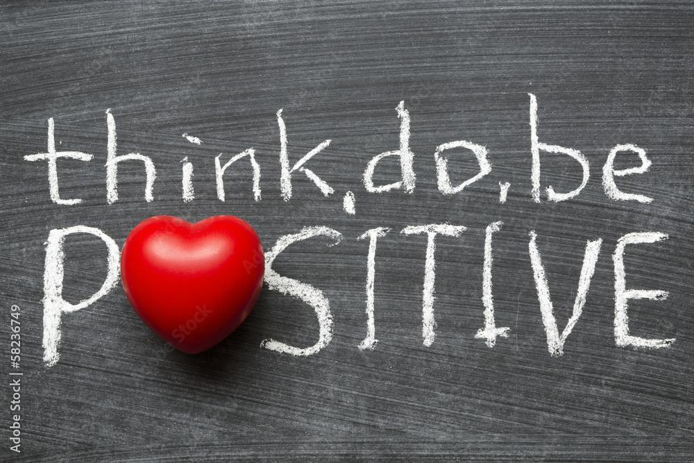 Fototapeta think positive