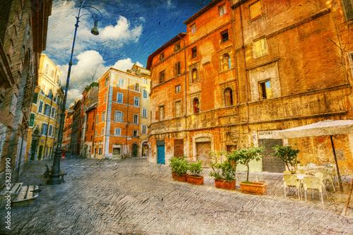Jewish quarter in Rome. Italy.