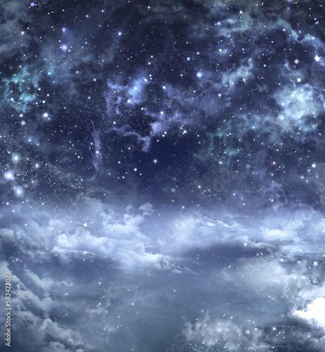 piękne tło nocnego nieba