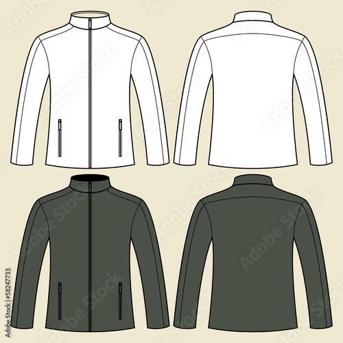 Jacket template - front and back Wall mural