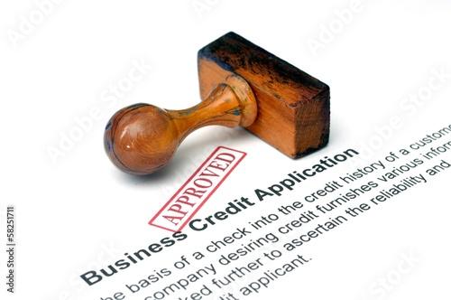 Fotografia, Obraz  Business credit application