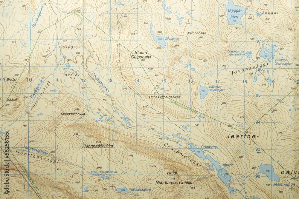 Fototapety, obrazy: topographic map