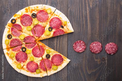 Fotografie, Obraz  Pacman pizza