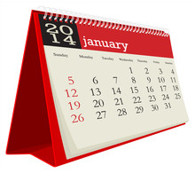 Desk Calendar 2014 January