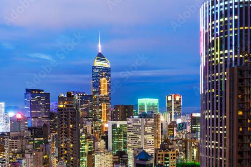 Photo  Hong Kong city skyline at night