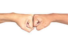 A Close Up Image Of A Fist Bum...