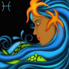 Naklejka Segni zodiacali - Pesci