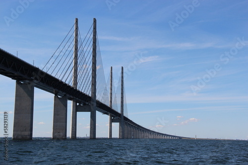 Keuken foto achterwand Bruggen Öresund Brücke - Verbindung zwischen Dänemark und Schweden