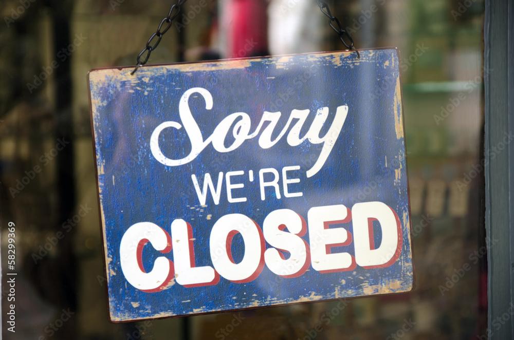 Fototapeta Vintage closed sign