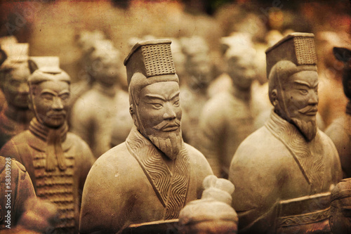 Chinese terracotta army - Xian Canvas Print