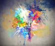 Leinwandbild Motiv Colourful Light