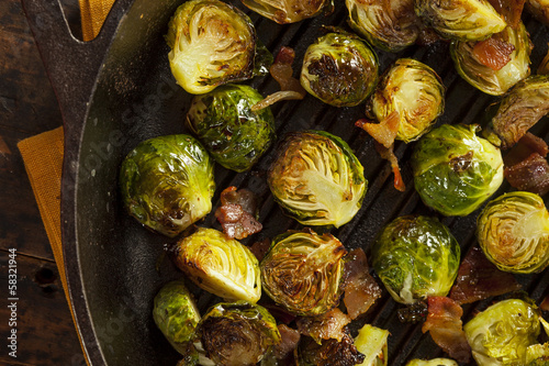 Photo Stands Brussels Homemade Grilled Brussel Sprouts