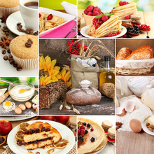 Homemade Cakes Collage