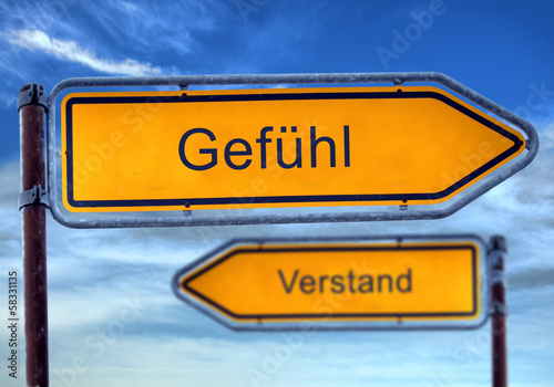 Fotografia  Strassenschild 1 - Gefühl