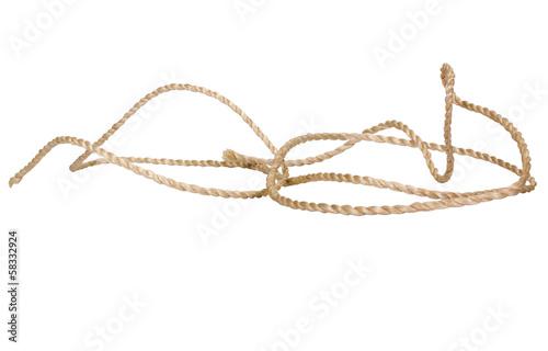 Fototapeta Close-up of a nylon rope obraz