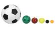 Balls arranged in descending order