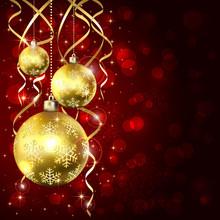 Three Golden Christmas Balls