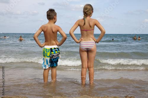 Fotografie, Obraz  Enfants à la plage