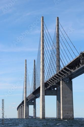 Öresund Brücke - Verbindung zwischen Dänemark und Schweden Canvas Print